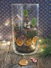 Terrarium de Noël aux oranges séchées