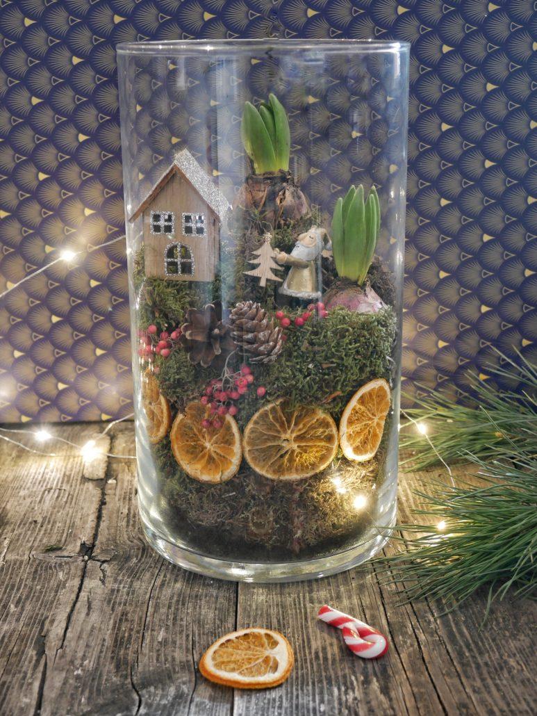 Comment faire un terrarium de Noël aux oranges séchées ?