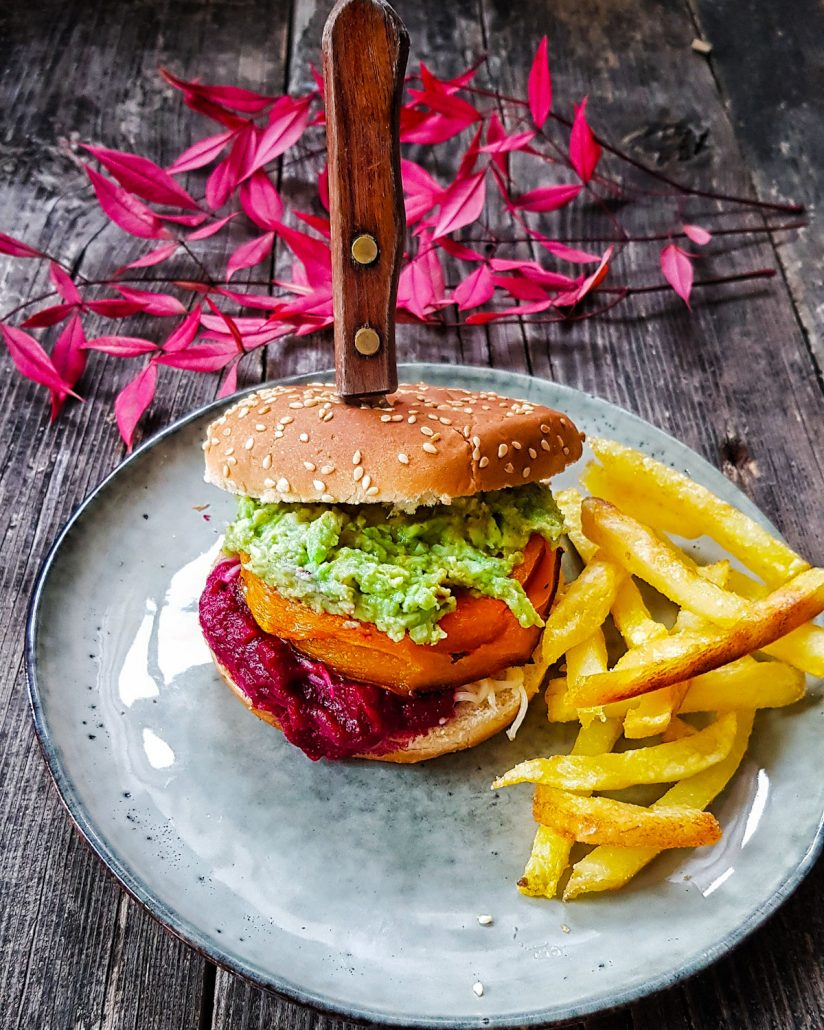 "Burger végétarien au ""steack"" de butternut"