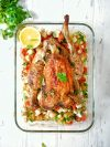 poulet rôti céleri rave et céleri branches