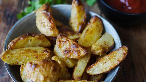 des potatoes enrobées de miel et moutarde