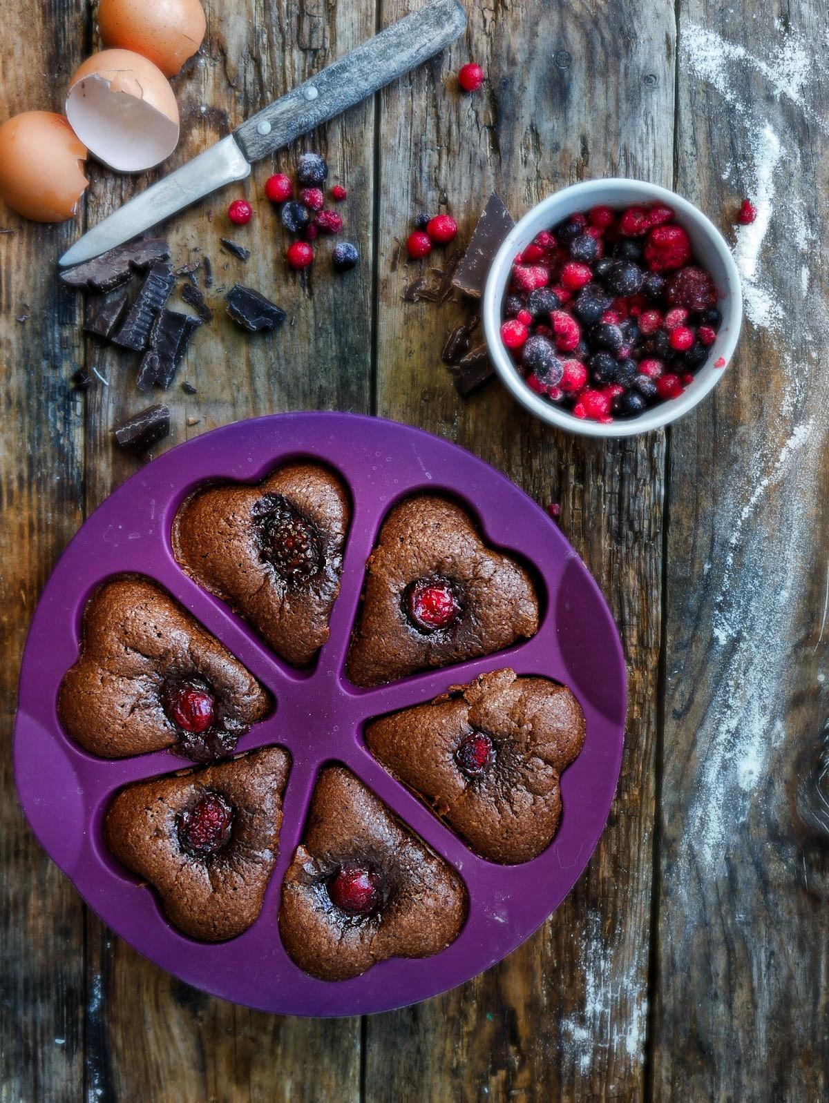 gâteau chocolat pour la saint valentin