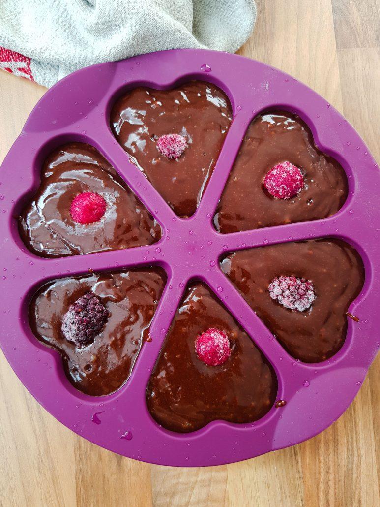 Cœurs chocolat framboises