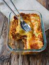 plat de lasagnes végétariennes, lentilles et béchamel sans lactose