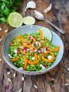 Taboulé de brocolis au carottes et grenade