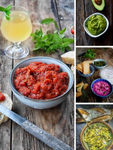 10 recettes de tartinades végétariennes