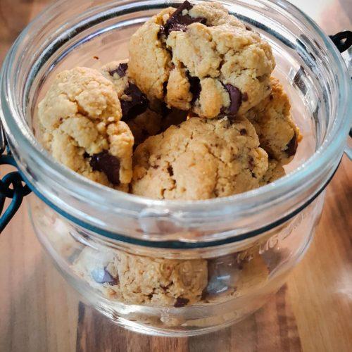 bocal de cookies chocolat