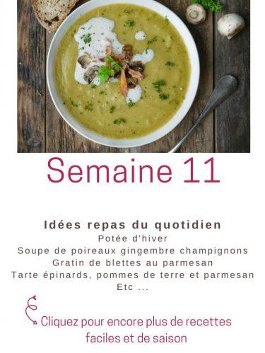 idées repas semaine 11