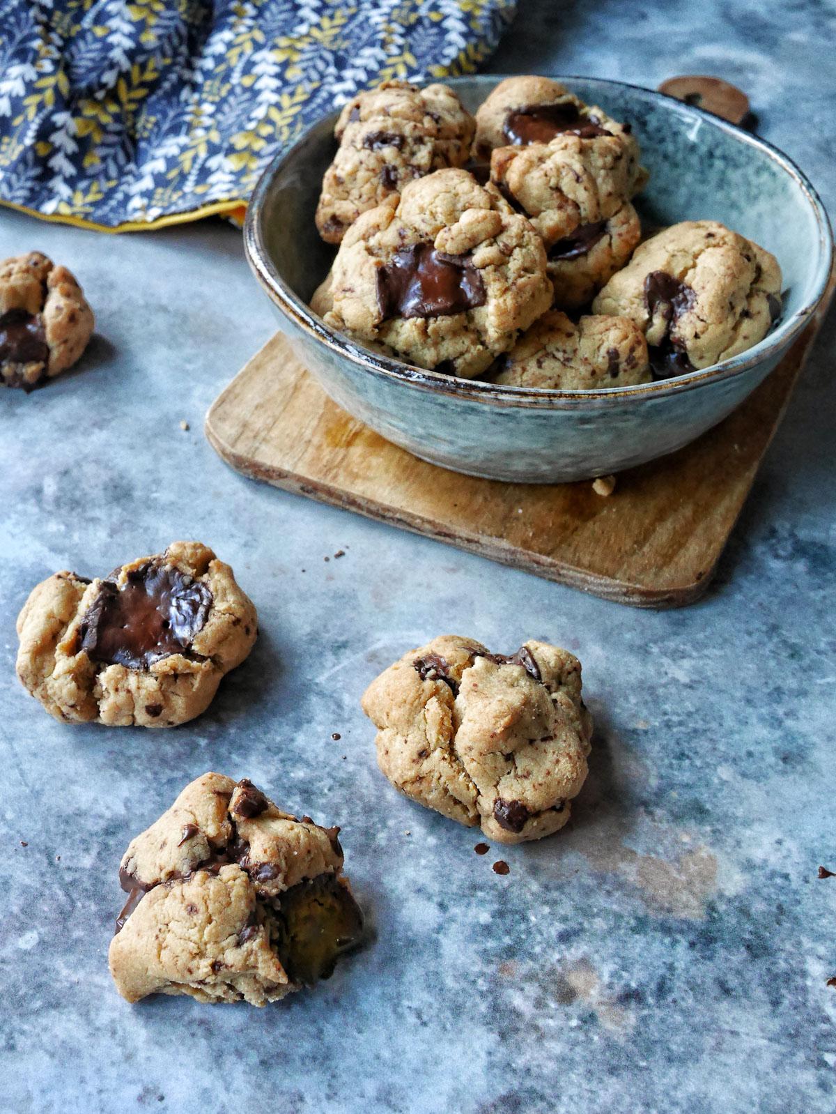 Cookies purée de cajou chocolat