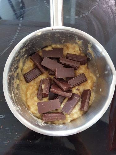 Préparation gâteau chocolat sans beurre