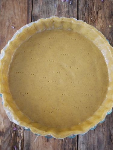 pâte à tarte cuite à blanc