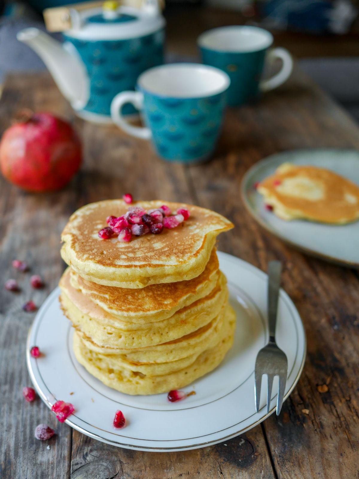 Pancakes fluffy, épais et moelleux