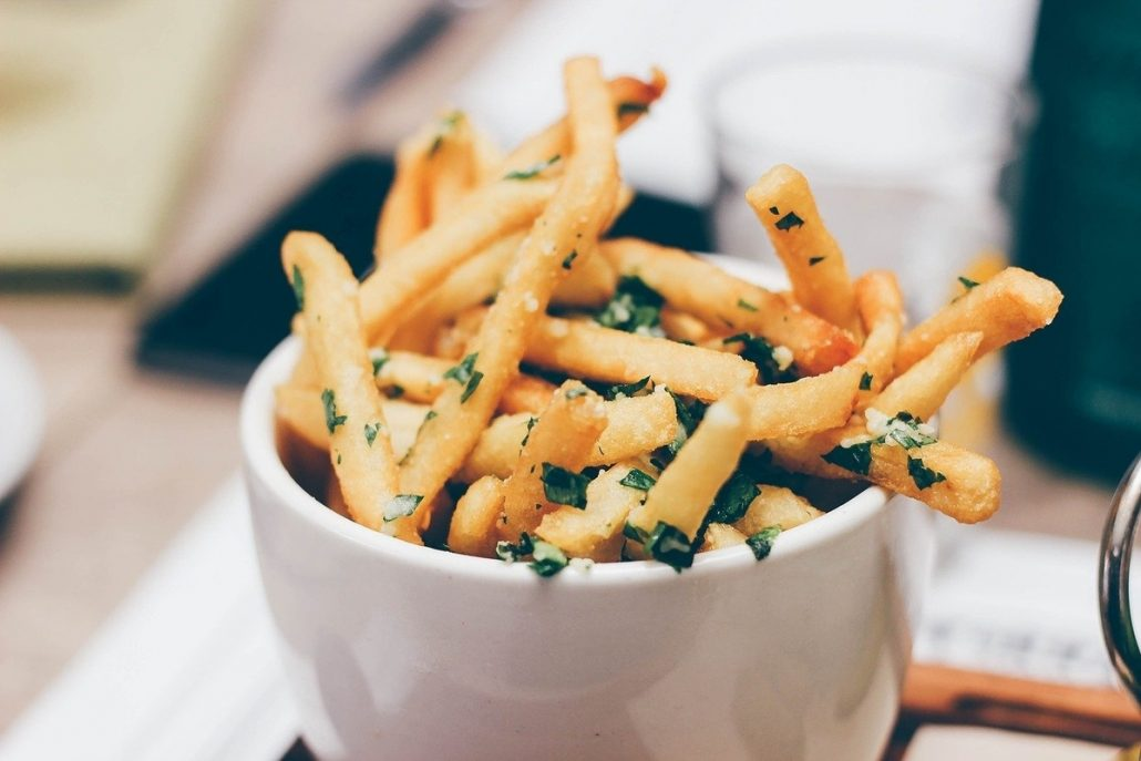 frites croustillantes avec bain de friture parfait