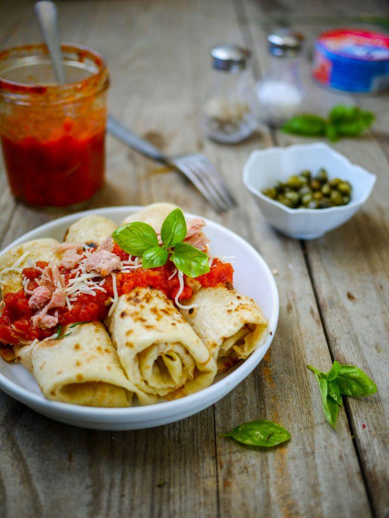 crêpes thon tomates