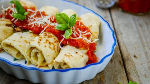 crêpes tomates mozzarella