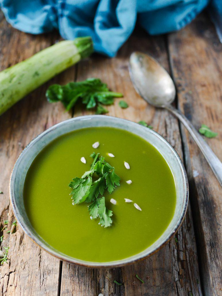 soupe courgettes épinards