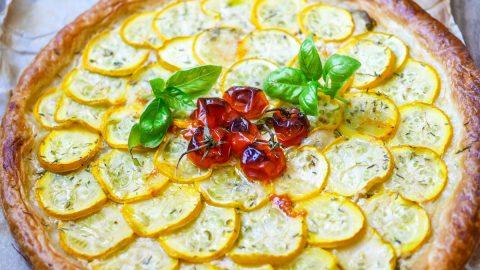 tarte fine courgettes et moutarde