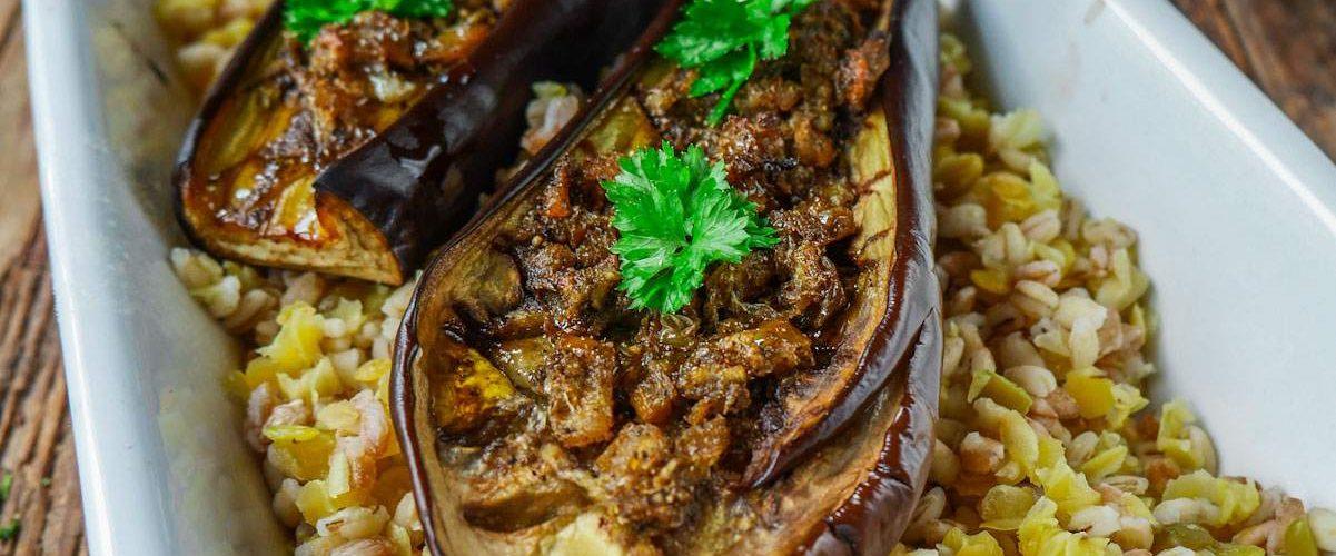 aubergines rôties aux épices
