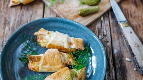 Croissants apéro saumon fumé