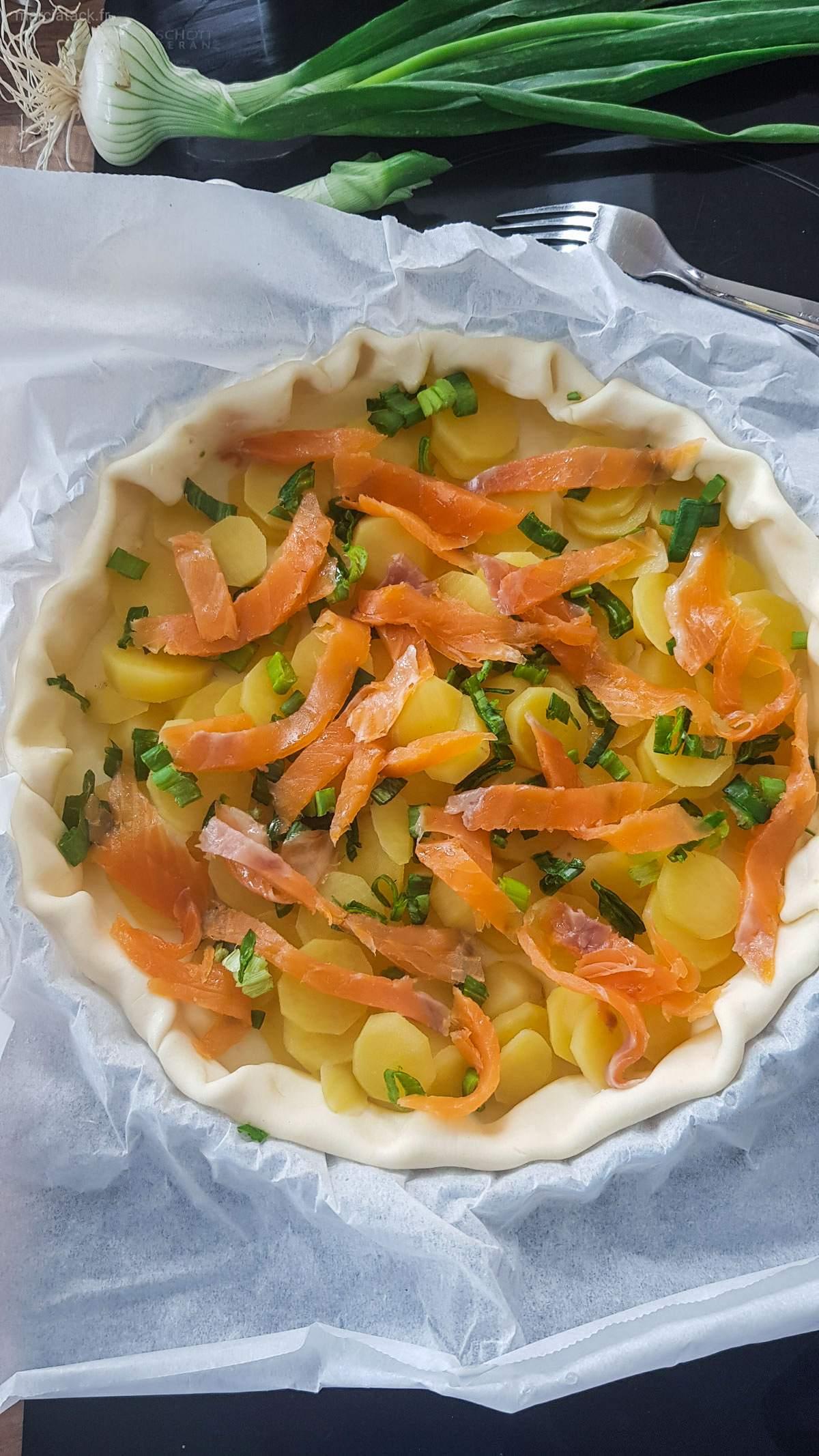 Quiche pommes de terre saumon
