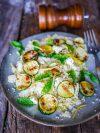 salade courgettes grillées et semoule