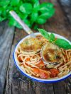spaghettis aux aubergines à la milanèse