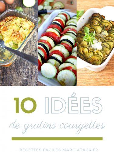 idées recettes pour gratin courgettes