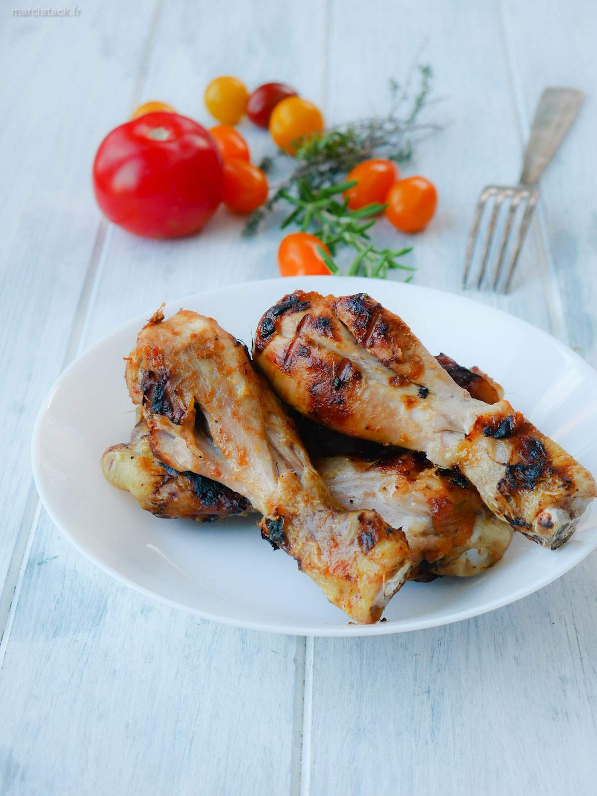cuisses de poulet au barbecue