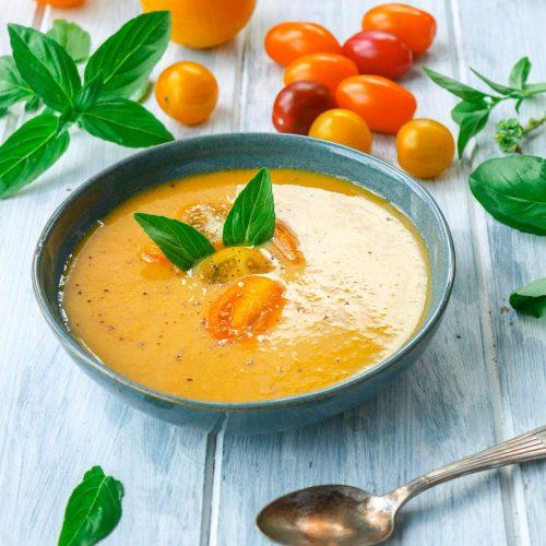 Recette de gaspacho de tomate jaune
