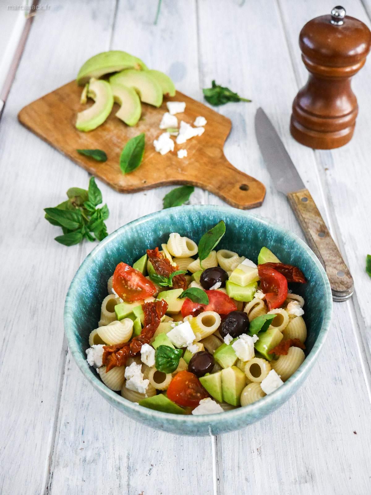 salade de pâtes végétarienne