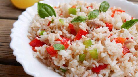 Salade de riz thon poivrons
