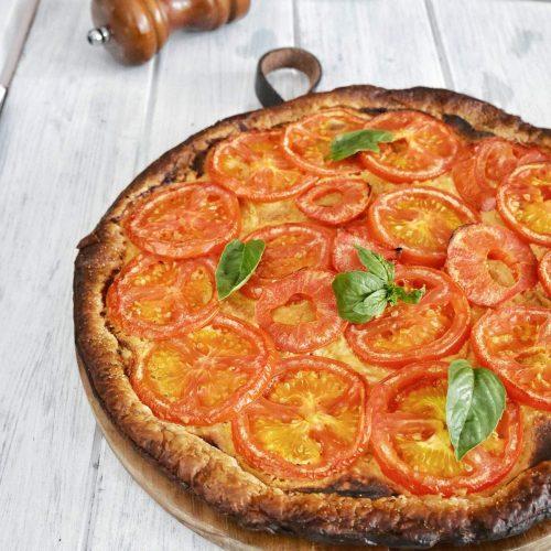 tarte fine tomate et moutarde