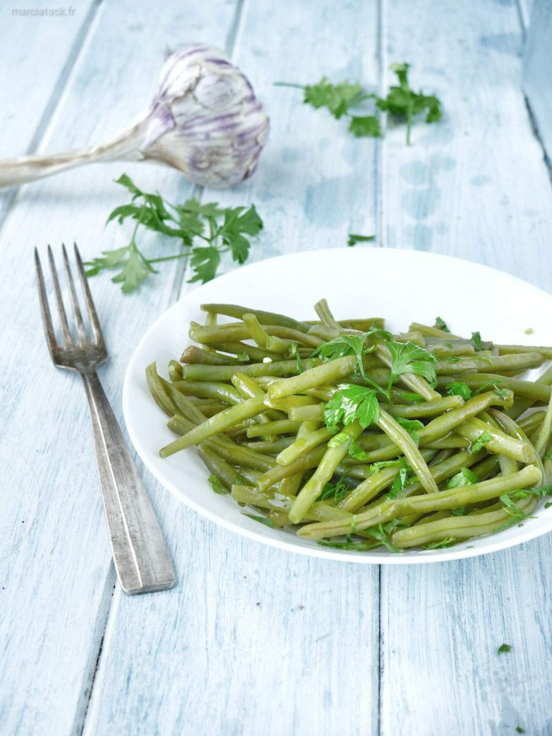 Haricots verts persil et ail