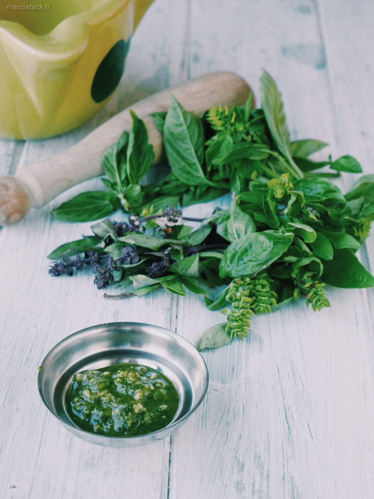 pesto de basilic frais