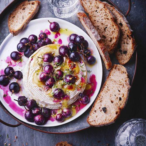 camembert rôti aux raisins