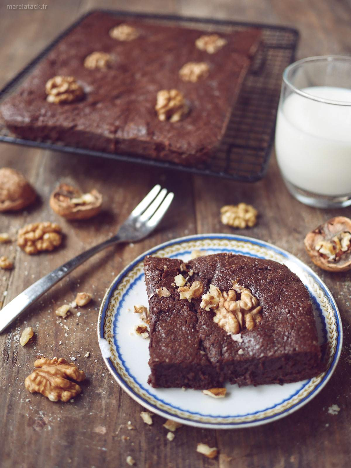 brownies aux noix de Cyril Lignac