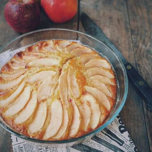 gâteau yaourt aux pommes