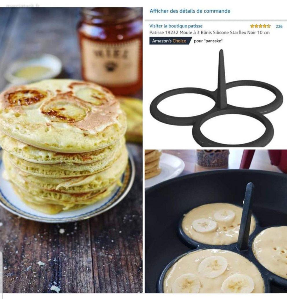 Pancakes aux tranches de bananes (sans lactose)