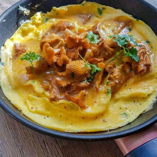 Omelette girolles