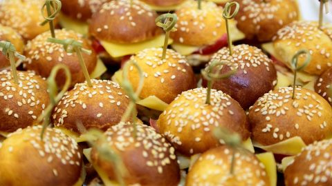 mini burger fois gras