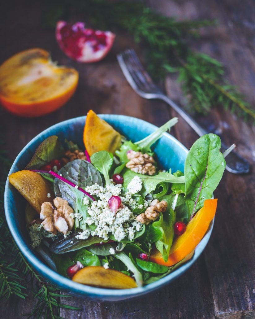Salade de Kakis Persimon à la grenade