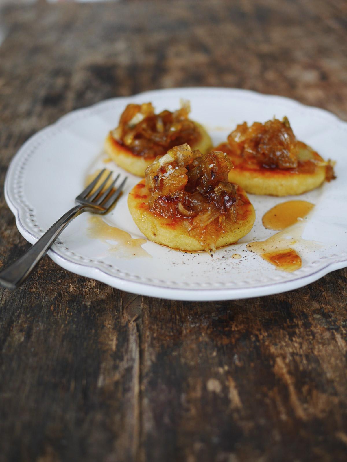 blinis pommes de terre oignons