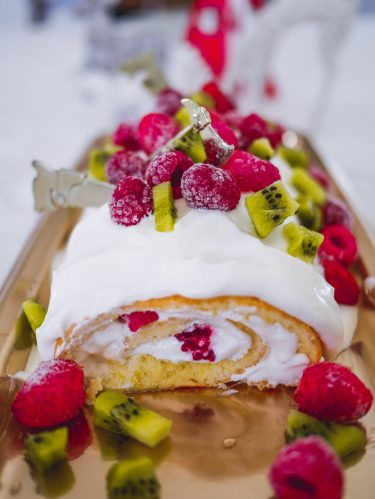 bûche chantilly fruits rouges