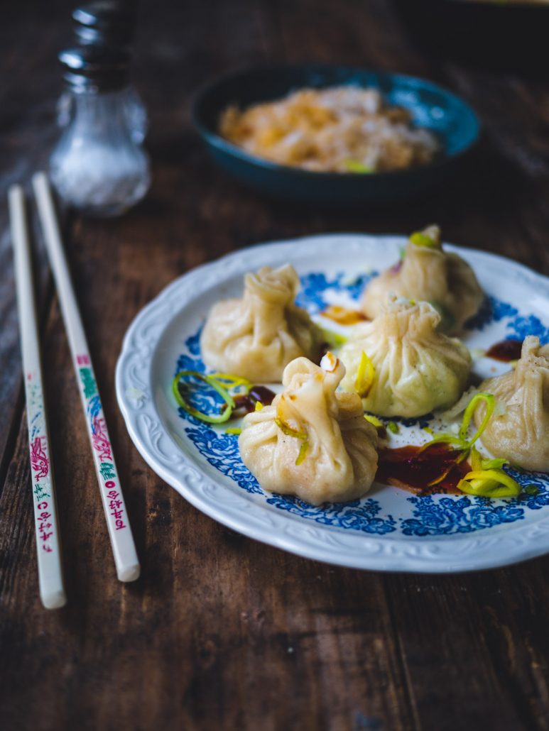 Dumplings aux légumes au chou chinois