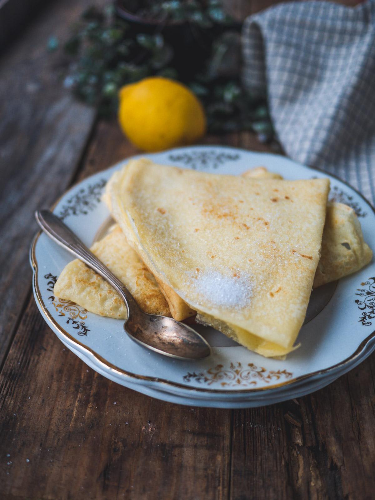 crêpes au sucre citron