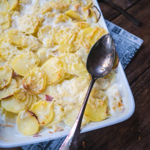 gratin pommes de terre lardons