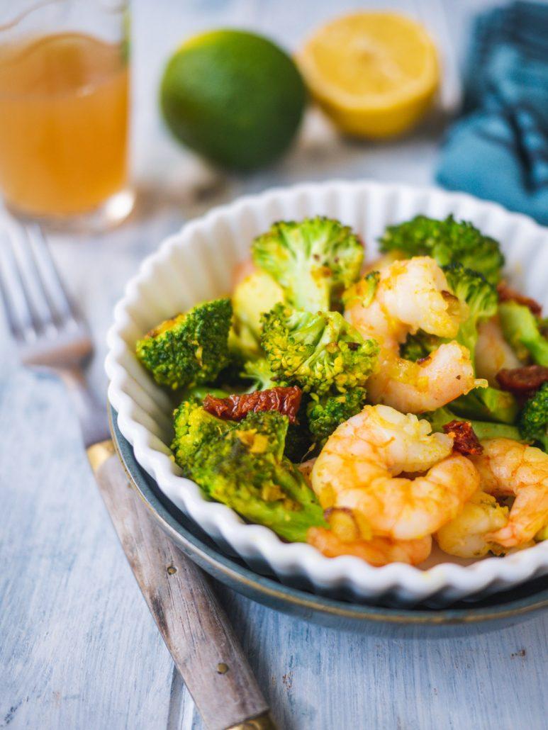 recette crevettes brocolis