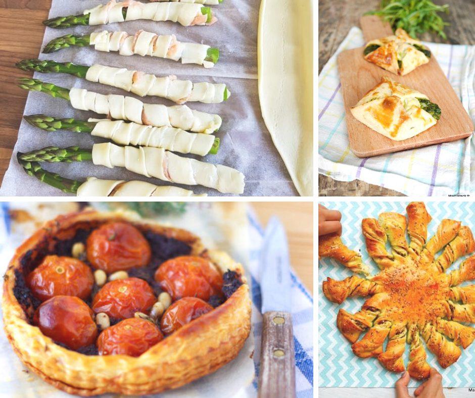 recettes avec pâte feuilletées