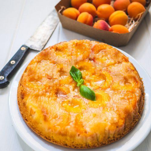 gâteau renversé à l'abricot