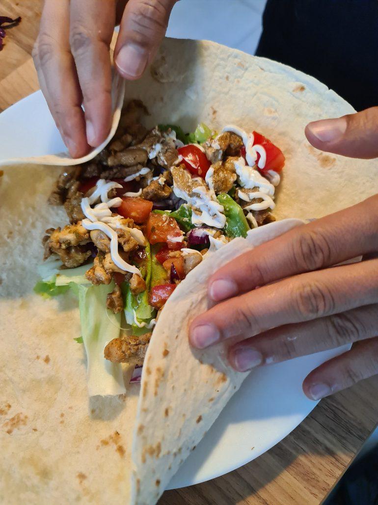 pliage kebab maison